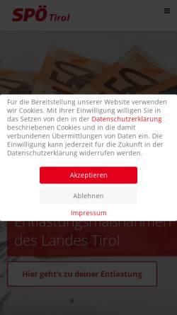 Vorschau der mobilen Webseite www.spoe-tirol.at, SPÖ Tirol