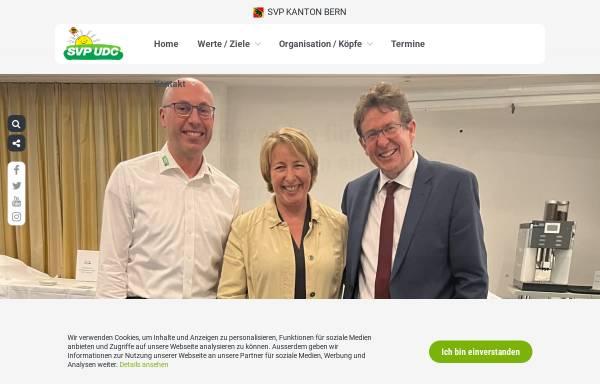 Vorschau von www.svp-bern.ch, Schweizerische Volkspartei Kanton Bern - SVP