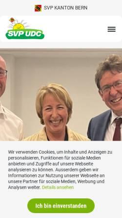 Vorschau der mobilen Webseite www.svp-bern.ch, Schweizerische Volkspartei Kanton Bern - SVP