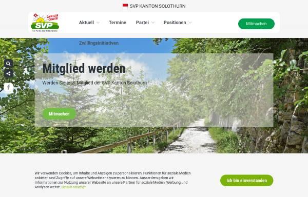 Vorschau von www.svp-so.ch, Schweizerische Volkspartei Kanton Solothurn - SVP