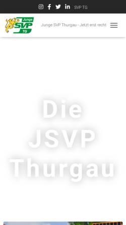 Vorschau der mobilen Webseite www.jsvp-thurgau.ch, Junge SVP Thurgau