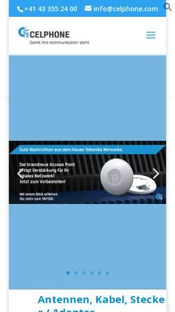 Vorschau der mobilen Webseite www.celphone.ch, Celphone Martin Girsberger GmbH