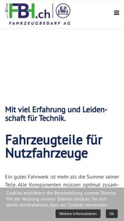 Vorschau der mobilen Webseite www.fbh.ch, Fahrzeugbau AG