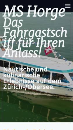 Vorschau der mobilen Webseite www.fischer-charter.ch, Fischer Charter