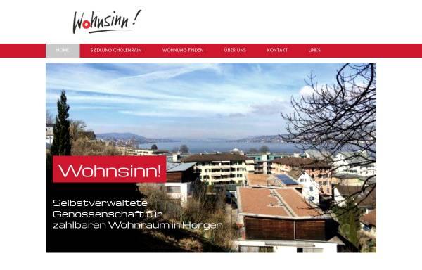Vorschau von www.wohnsinn-horgen.ch, Genossenschaft Wohnsinn