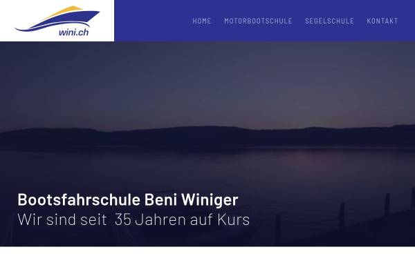 Vorschau von www.wini.ch, Motorbootfahrschule Beni Winiger