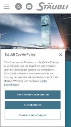Vorschau der mobilen Webseite www.staubli-schweiz.ch, Stäubli AG
