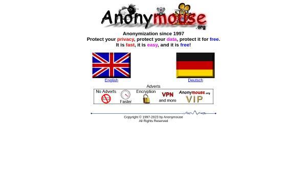Vorschau von anonymouse.org, Anonym im Netz
