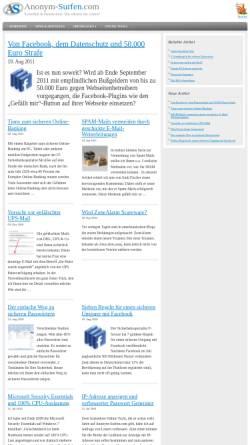 Vorschau der mobilen Webseite www.anonym-surfen.com, Anonym surfen im Internet