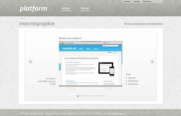 Vorschau von www.platform.ch, PLATFORM.solutions GmbH