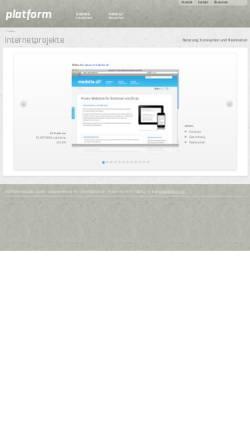 Vorschau der mobilen Webseite www.platform.ch, PLATFORM.solutions GmbH