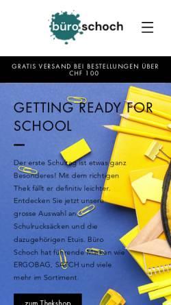 Vorschau der mobilen Webseite www.buero-schoch.ch, Büro Schoch AG