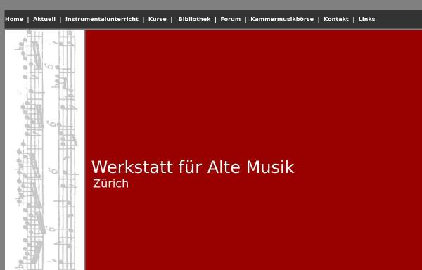 Vorschau von www.werkstatt-alte-musik.ch, Werkstatt für Alte Musik