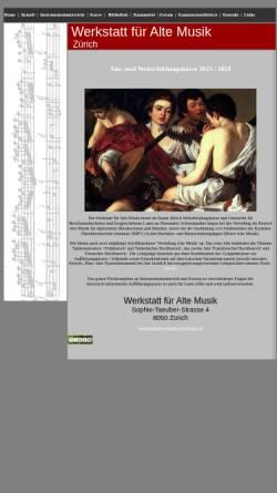 Vorschau der mobilen Webseite www.werkstatt-alte-musik.ch, Werkstatt für Alte Musik