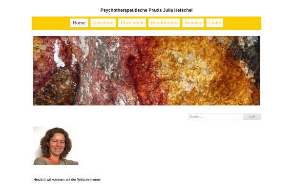 Vorschau von www.psychotherapie-zh.ch, Psychotherapeutische Praxis Julia Hetschel
