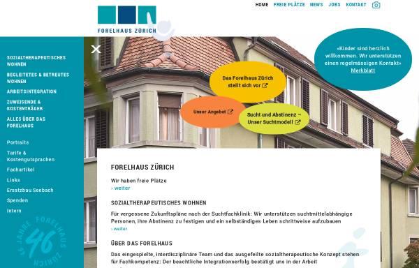Forelhaus Zürich Übergangswohnheim: Prävention und ...