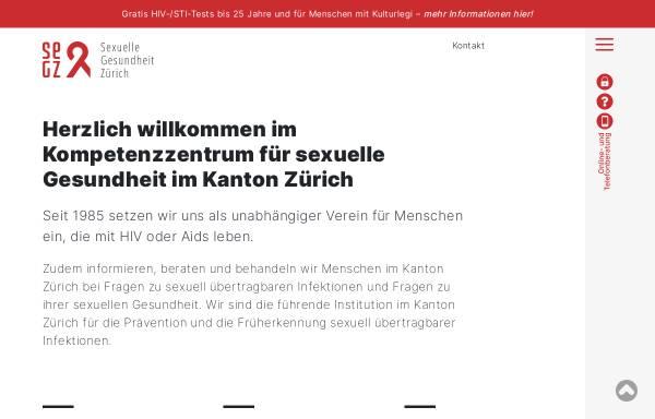 Vorschau von www.zah.ch, Zürcher Aids-Hilfe