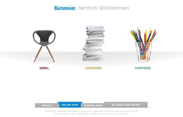 Vorschau von www.bueromeier.ch, Büro-Meier AG