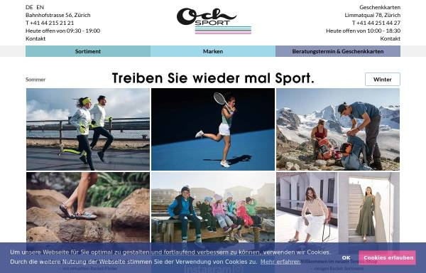 Vorschau von www.ochsport.ch, Och Sport