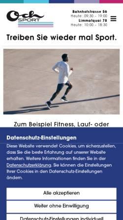 Vorschau der mobilen Webseite www.ochsport.ch, Och Sport