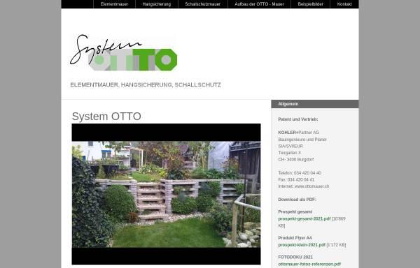 Vorschau von www.ottomauer.ch, System Otto GmbH