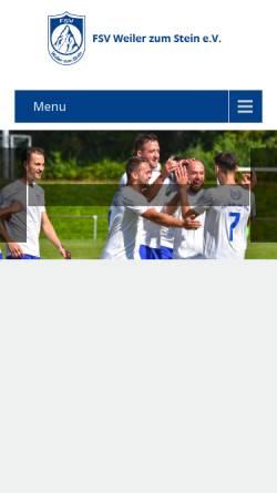 Vorschau der mobilen Webseite www.fsv-weiler.de, FSV Weiler zum Stein