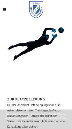 Vorschau der mobilen Webseite www.sportverein-bingen.de, Sportverein Bingen-Hitzkofen Abteilung Fußball