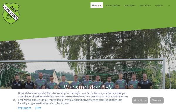 Vorschau von www.asv-leupoldsgruen.de, ASV Leupoldsgrün