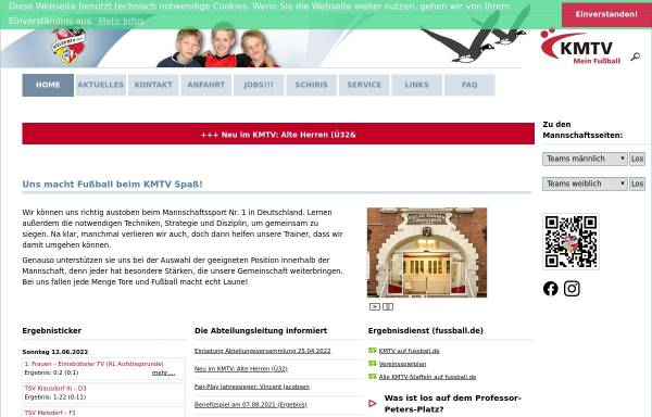 Vorschau von www.fussball.kmtv.de, Kieler MTV von 1844 e.V.