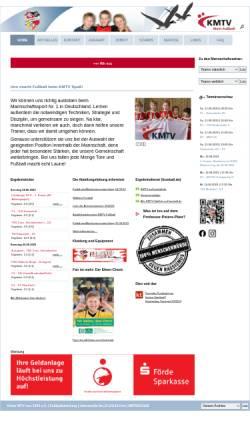 Vorschau der mobilen Webseite www.fussball.kmtv.de, Kieler MTV von 1844 e.V.