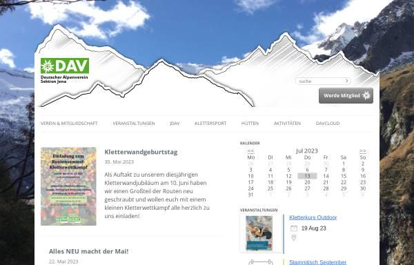 Kletterausrüstung Jena : Dav sektion jena deutschland alpenvereine alpenverein