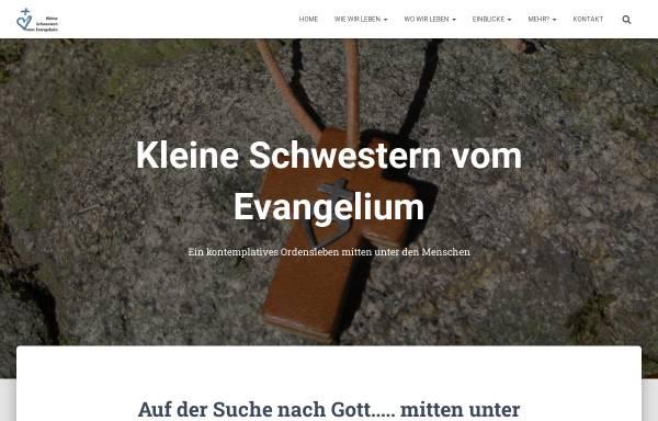 Vorschau von www.kleine-schwestern-vom-evangelium.org, Kleine Schwestern vom Evangelium