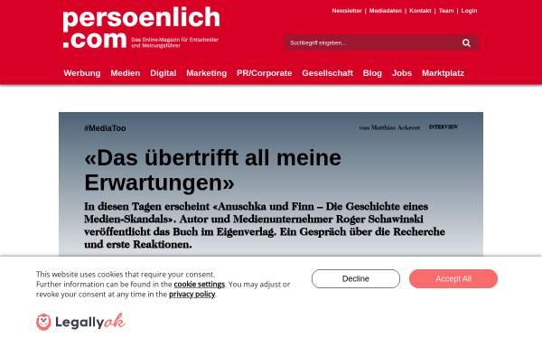 Vorschau von www.persoenlich.com, Persoenlich.com