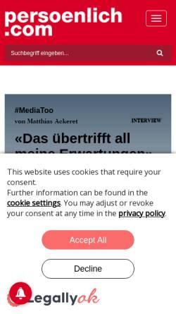 Vorschau der mobilen Webseite www.persoenlich.com, Persoenlich.com