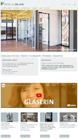 Vorschau der mobilen Webseite www.berlin-glas.de, Berlin-Glas Mergner & Speidel OHG Glasbau und Glaserei