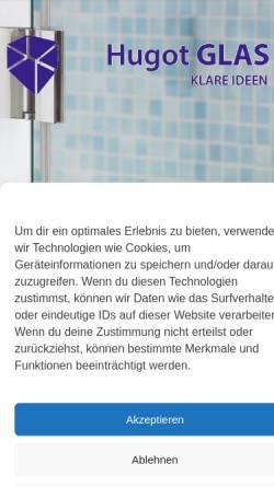 Vorschau der mobilen Webseite www.glaser-berlin.de, Glaserei Jens Hugot