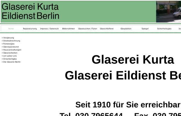 Vorschau von www.kurta-glaserei.de, Glaserei Kurta