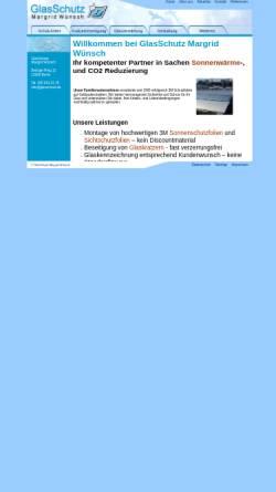Vorschau der mobilen Webseite www.glasschutz.de, GlasSchutz - Margrit Wünsch