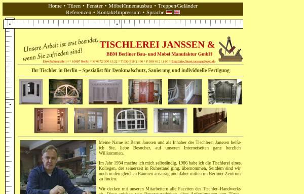 vorschau von www tischlerei berlin de tischlerei janssen
