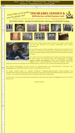 tischlerei janssen vorschau der mobilen webseite www tischlerei berlin de tischlerei janssen