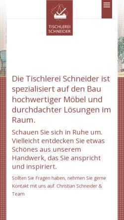 vorschau der mobilen webseite tischlermeister de tischlerei schneider mobel und innenausbauten