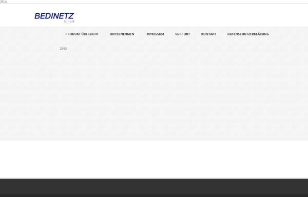 Vorschau von www.bedinetz.de, Bedinetz GmbH