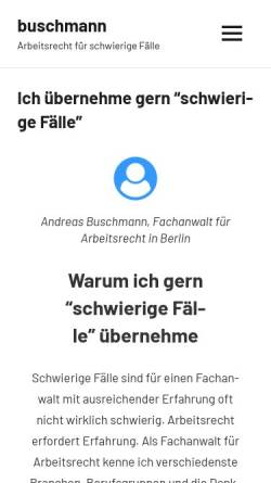 Vorschau der mobilen Webseite www.anderfuhr-buschmann.de, Buschmann Andreas