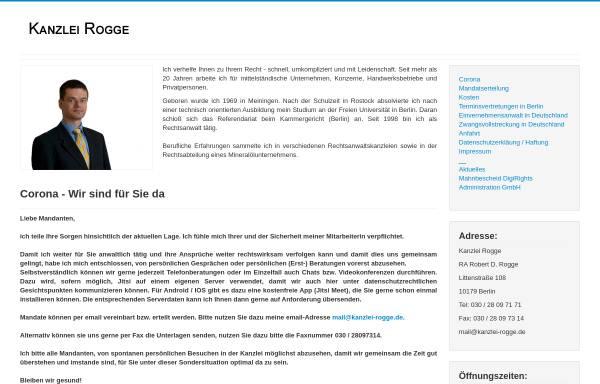 Vorschau von www.kanzlei-rogge.de, Rogge Robert D.