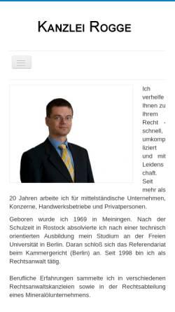 Vorschau der mobilen Webseite www.kanzlei-rogge.de, Rogge Robert D.