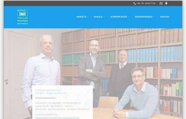 Vorschau von www.weigelt-ziegler.de, Weigelt & Ziegler