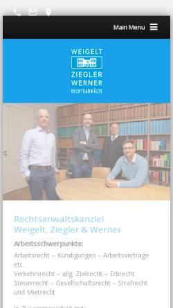 Vorschau der mobilen Webseite www.weigelt-ziegler.de, Weigelt & Ziegler