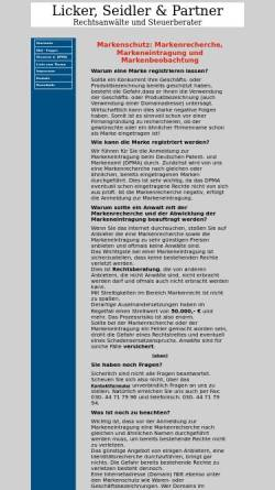 Vorschau der mobilen Webseite www.markenschutz.org, Kanzlei Licker, Seidler & Partner