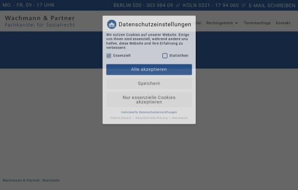 Vorschau von www.sozialrecht-berlin.de, Suchservice für Berliner Anwälte mit Schwerpunkt Sozialrecht