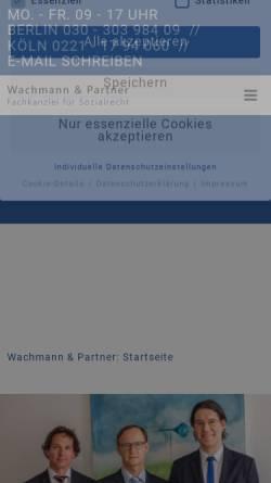 Vorschau der mobilen Webseite www.sozialrecht-berlin.de, Suchservice für Berliner Anwälte mit Schwerpunkt Sozialrecht